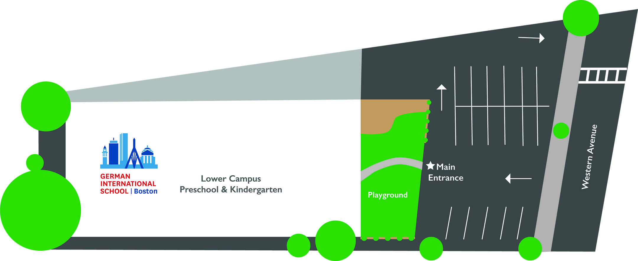 Map of Lower Campus of German International School Boston