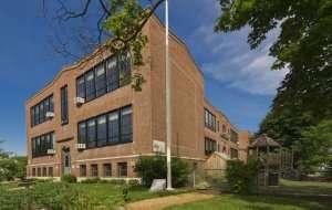 Upper Campus building at German International School Boston